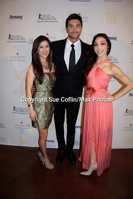 Kristi Yamaguchi & Evan Lysacek & Meryl Davis - 10th Annual Gala celebrating Figure Skating in Harlem's 18th year of operations at The Stars 2015 Benefit Gala on April 13, 2015 in New York City, New York honoring Olympic Champion Evan Lysacek, Gloria Steinem and Nicole, Alana and Juliette Feld with Mary Wilson as Mistress of Ceremony. (Photos by Sue Coflin/Max Photos)