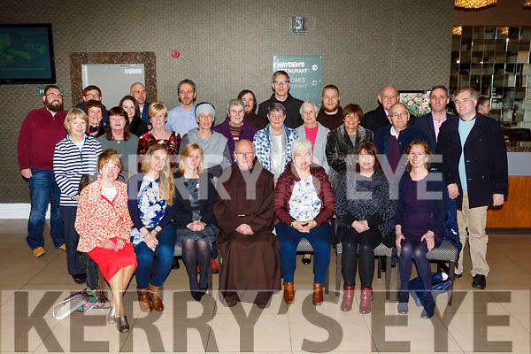 Fr Liam McCarthy with some of the parishioners  at the Killarney Friary social in the Killarney Oaks Hotel on Friday night