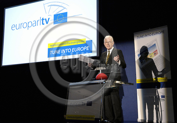 Brussels-Belgium - 17 September 2008---Hans-Gert PÖTTERING (Pottering, Poettering), President of the European Parliament, during the launch of EuroparlTV, the webtv of the European Parliament---Photo: Horst Wagner / eup-images