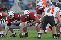 18 November 2006: Jon Cochran, Mikal Brewer and T.C. Ostrander during Stanford's 30-7 loss to Oregon State at Stanford Stadium in Stanford, CA.