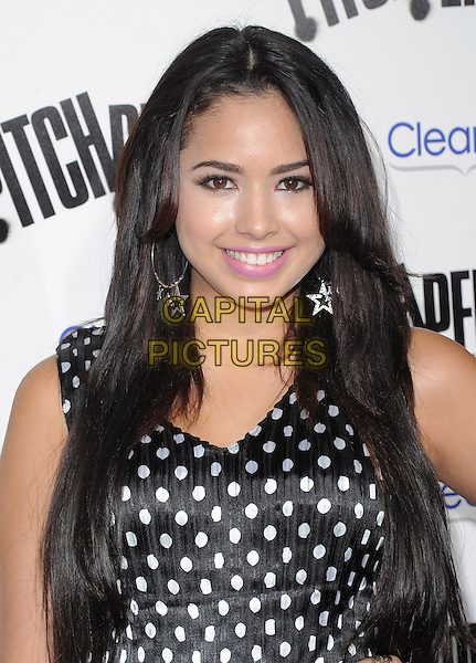 Jasmine Villegas.'Pitch Perfect' premiere held at ArcLight Cinemas, Hollywood, California USA. 24th September 2012.headshot portrait black white polka dot top  .CAP/DVS.©DVS/Capital Pictures.