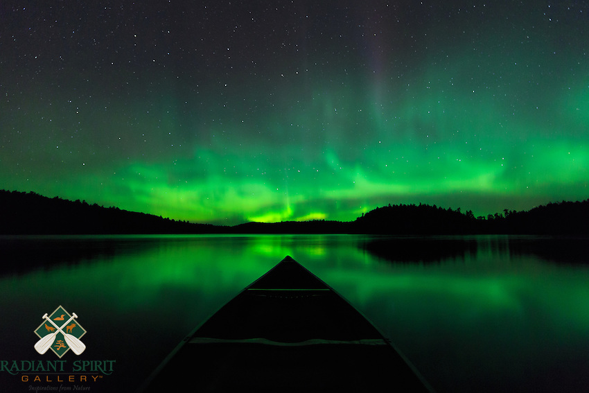 &quot;Canoeing Under the Aurora&quot;<br /> <br /> Canoeing under a star-filled sky splashed with the aurora is one of the most enjoyable and memorable experiences of a wilderness canoe trip. ~ Day 191 of Inspired by Wilderness: A Four Season Solo Canoe Journey.