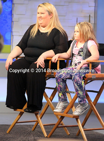 Pictured: Honey Boo Boo, June &quot;Mama June&quot;<br /> Mandatory Credit &copy; DDNY/Broadimage <br /> Honey Boo Boo and June &quot;Mama June&quot; at Good Morning America in New York City<br /> <br /> 2/5/14, New York, New York, United States of America<br /> <br /> Broadimage Newswire<br /> Los Angeles 1+  (310) 301-1027<br /> New York      1+  (646) 827-9134<br /> sales@broadimage.com<br /> http://www.broadimage.com