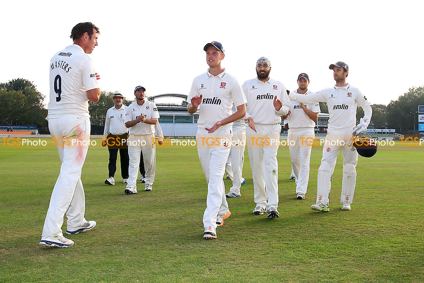 The Essex players leave the field after clinching victory - Leicestershire CCC vs Essex CCC - LV County Championship Division Two Cricket at Grace Road, Leicester - 16/09/14 - MANDATORY CREDIT: Gavin Ellis/TGSPHOTO - Self billing applies where appropriate - contact@tgsphoto.co.uk - NO UNPAID USE