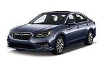 2018 Subaru Legacy Premium 4 Door Sedan angular front stock photos of front three quarter view