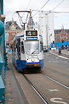 Tram to station, Amsterdam, Netherlands
