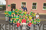 GREEN&Gold: The green and yellow the colours of the Kerry Football team out done the Cork colours at Derrquay NS on Thursday as the Sam Maguire Cup paid a courtisy call with Michael Quirke...