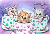 Kayomi, CUTE ANIMALS, paintings, CoffeBreak_M, USKH31,#AC# illustrations, pinturas ,everyday