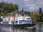 Rzeka Netta - statek wycieczkowy, August&oacute;w, Polska<br /> Netta river - cruise ship, August&oacute;w, Poland