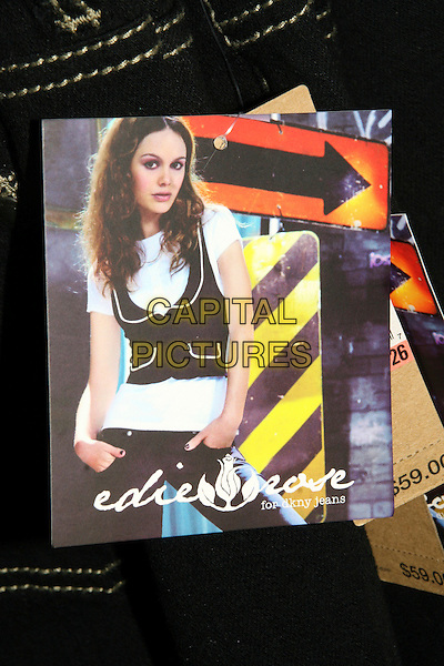 """ATMOSPHERE .In-store appearance to debut her """"Edie Rose"""" for DKNY Jeans' clothing line.at Macy's Herald Square,  New York, NY, USA, October 4th 2008..poster art Rachel Bilson  .CAP/LNC/TOM .©LNC/Capital Pictures"""