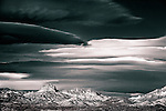 dramatic black and white image of the desert near Laughlin, Nevada