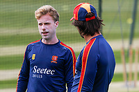 Adam Wheater (l) and Ryan ten Doeschate (r) of Essex chat during training during Essex CCC Training at The Cloudfm County Ground on 22nd July 2020