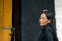 Street life and scenes in Lhasa, Tibet