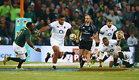 Billy Vunipola of England looks to hand off Tendai Mtawarira of South Africa during the 2018 Castle Lager Incoming Series 2nd Test match between South Africa and England at the Toyota Stadium.Bloemfontein,South Africa. 16,06,2018 Photo by Steve Haag / stevehaagsports.com