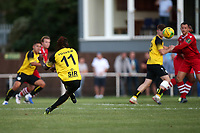 Kadell Daniel of Margate scores the first goal for his team during Hornchurch vs Margate, BetVictor League Premier Division Football at Hornchurch Stadium on 13th August 2019
