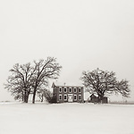 WINTER FARMHOUSE -- An old farmhouse during a bleak winter showstorm...just outside Allenton, Wisconsin, USA.   wi#michaelknapstein #midwest #midwestmemoir #blackandwhite #B&W #monochrome #instblackandwhite #blackandwhiteart #flair_bw #blackandwhite_perfection #motherfstop #wisconsin #blackandwhiteisworththefight #bnw_captures #bwphotography #myfeatureshoot  #fineartphotography #americanmidwest #squaremag #lensculture #mifa #moscowfotoawards #moscowinternationalfotoawards #rps #royalphotographicsociety #CriticalMass #CriticalMassTop200 #photolucida #contemporaryphotography <br /> @thec4fap #fineartphotography #portfolioshowcase11