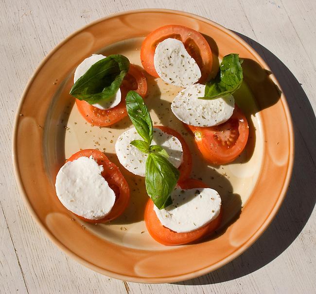 Mozzarella and Tomato, Zaza Restaurant, Florence, Tuscany, Italy