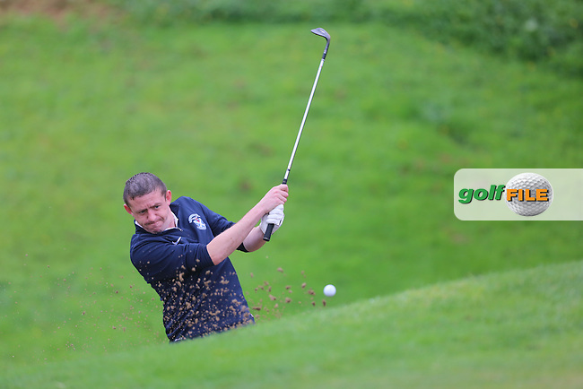 Patrick McCrossan (Strabane) during the Ulster Mixed Foursomes Final, Shandon Park Golf Club, Belfast. 19/08/2016<br /> <br /> Picture Jenny Matthews / Golffile.ie<br /> <br /> All photo usage must carry mandatory copyright credit (© Golffile | Jenny Matthews)