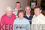 Members of the Asdee Race Committee pictured last Friday in The Golf House Hotel for their annual race night, l-r: Ray Keane, Patsy Coughlan, Fergus O'Connor, Kevin Mulvihill and Oliver Kearney.