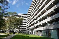Nederland  Amsterdam -  September 2018.  De Bijlmer. Flat Kleiburg.      Foto Berlinda van Dam / Hollandse Hoogte