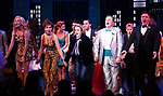 "Angie Schworer, Beth Leavel, Caitlin Kinnunen, Brooks Ashmanskas and Christopher Sieber during the Broadway Opening Night Curtain Call of ""The Prom"" at The Longacre Theatre on November 15, 2018 in New York City."