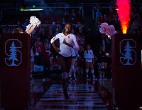 STANFORD, CA - October 12, 2018: Tami Alade at Maples Pavilion. No. 2 Stanford Cardinal swept No. 21 Washington State Cougars, 25-15, 30-28, 25-12.