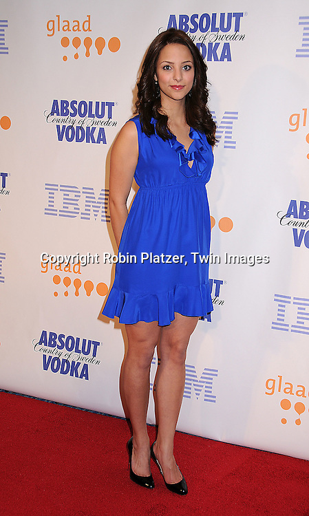 Tala Ashe of As The World Turns.posing for photographers at the 19th Annual GLAAD Media Awards on March 17, 2008 at The Marriott Marquis Hotel in New York City. .Robin Platzer, Twin Images