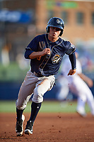 San Antonio Missions second baseman Luis Urias (3) running the bases during a game against the Tulsa Drillers on June 1, 2017 at ONEOK Field in Tulsa, Oklahoma.  Tulsa defeated San Antonio 5-4 in eleven innings.  (Mike Janes/Four Seam Images)