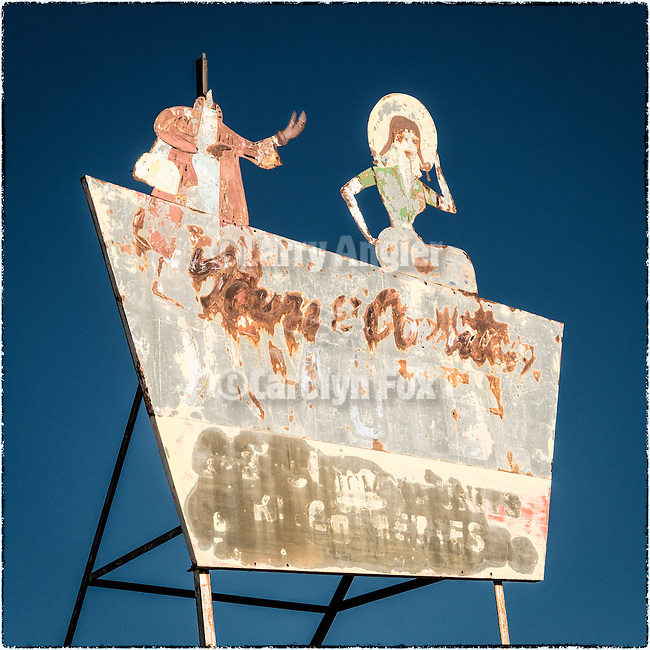 Rusting Motel sign, East Ely, Nev.