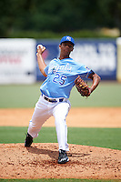 Pitcher Chandler Ferguson (25) of Lafayette Jefferson High School in Lafayette, Indiana playing for the Kansas City Royals scout team during the East Coast Pro Showcase on August 3, 2016 at George M. Steinbrenner Field in Tampa, Florida.  (Mike Janes/Four Seam Images)