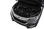 Car stock 2019 Honda HR-V Sport 5 Door SUV engine high angle detail view