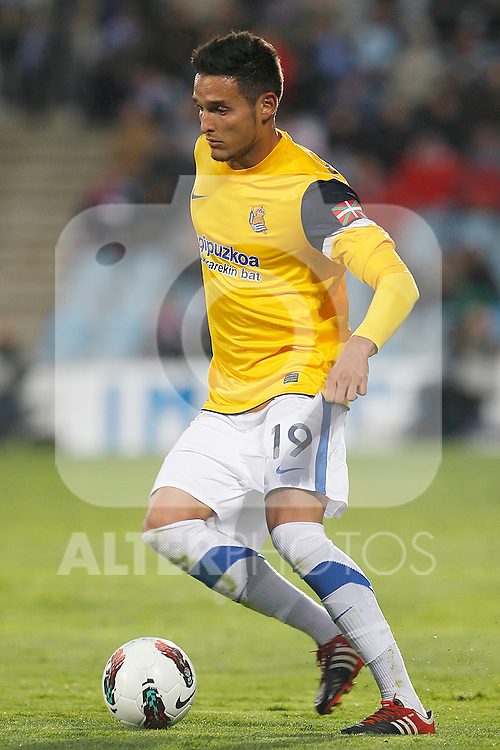Real Sociedad's Liassine Cadamuro during La Liga match.March 17,2012. (ALTERPHOTOS/Acero)