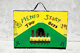 JAMAICA, Port Antonio. A marumba box that belongs to The Jolly Boys.