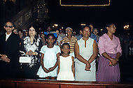February 22, 1986. Havana, Cuba. After 27 years of oppression from the Castrist regime a mass was celebrated at the Catholic Catherdral of Havana.