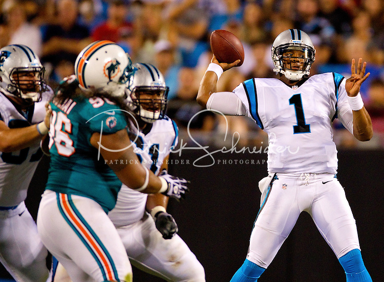 The Carolina Panthers vs. the Miami Dolphins at Bank of America Stadium in Charlotte, North Carolina.Photos by: Patrick Schneider Photo.com