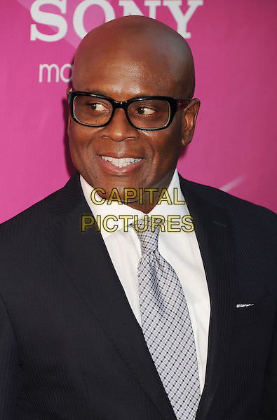 "L.A. Reid (Antonio ""L.A."" Reid).'The X Factor' Season 2 Premiere Party at Grauman's Chinese Theatre, Hollywood, California, USA..11th September 2012.headshot portrait glasses black shirt  white grey gray tie  .CAP/ROT/TM.© TM/Roth/Capital Pictures"