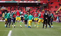 West Bromwich Albion players warming up during Charlton Athletic vs West Bromwich Albion, Sky Bet EFL Championship Football at The Valley on 11th January 2020