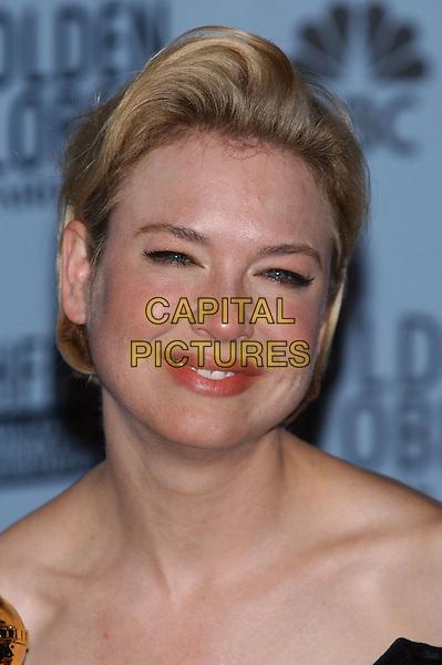 RENEE ZELLWEGER.60th Golden Globe Awards.www.capitalpictures.com.sales@capitalpictures.com.© Capital Pictures.hair