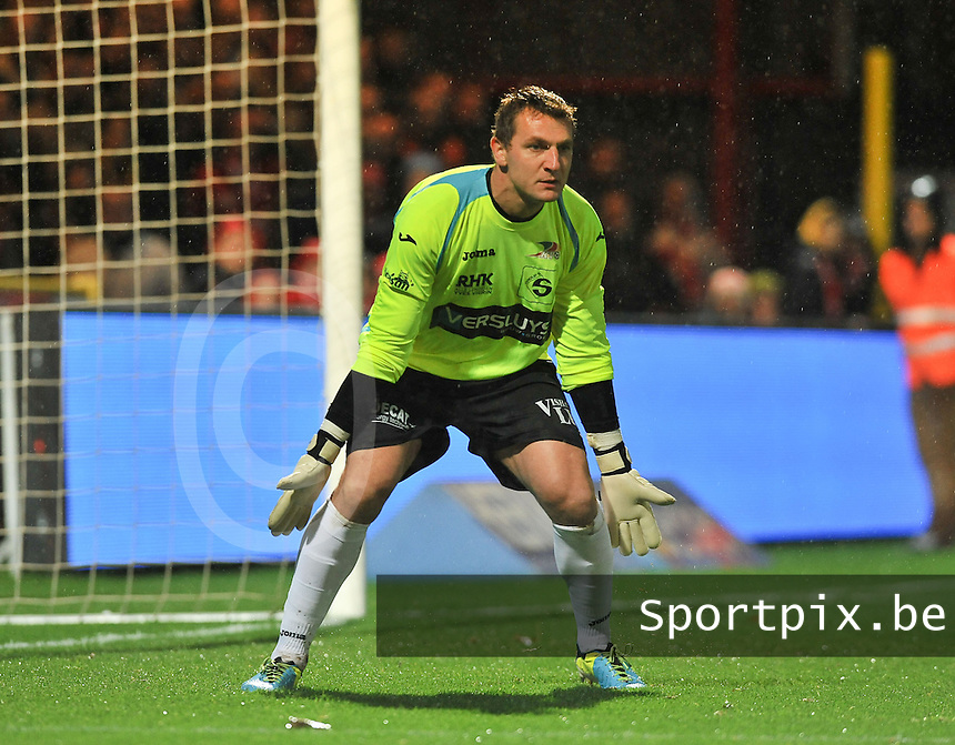 KV Kortrijk - KV Oostende : Oostendse doelman Cedric Berthelin <br /> foto VDB / Bart Vandenbroucke