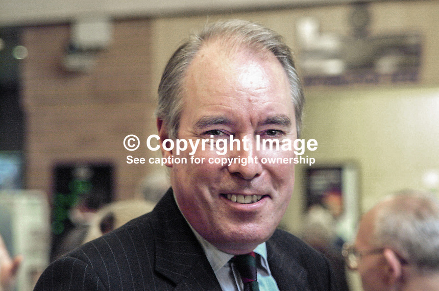 Sir Robert Atkins, Conservative MEP, ex-MP, UK. Britain. Knight. Ref: 2000100428. Taken at Conservative Party Annual Conference in Bournemouth, England.<br /> <br /> Copyright Image from Victor Patterson,<br /> 54 Dorchester Park, <br /> Belfast, UK, BT9 <br /> <br /> t1: +44 28 9066 1296 (from Rep of Ireland 048 90661296)<br /> t2: +44 28 9002 2446 (from Rep of Ireland 048 9002 2446)<br /> <br /> m: +44 7802 353836<br /> <br /> e: victorpatterson@me.com<br /> www.victorpatterson.com<br /> <br /> Please see my Terms and Conditions of Use at www.victorpatterson.com. It is IMPORTANT that you familiarise yourself with them.<br /> <br /> Images used on the Internet must be visibly watermarked i.e. &copy; Victor Patterson<br /> within the body of the image and copyright metadata must not be deleted. Images <br /> used on the Internet have a size restriction of 4kbs and will be chargeable at current<br />  NUJ rates unless agreed otherwise.<br /> <br /> This image is only available for the use of the download recipient i.e. television station, newspaper, magazine, book publisher, etc, and must not be passed on to any third <br /> party. It is also downloaded on condition that each and every usage is notified within 7 days to victorpatterson@me.com<br /> <br /> The right of Victor Patterson to be identified as the author is asserted in accordance with The Copyright Designs And Patents Act (1988). All moral rights are asserted.