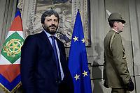 Roma, 4 Aprile 2018<br /> Roberto Fico<br /> Primo giorno di Consultazioni per la formazione del Governo