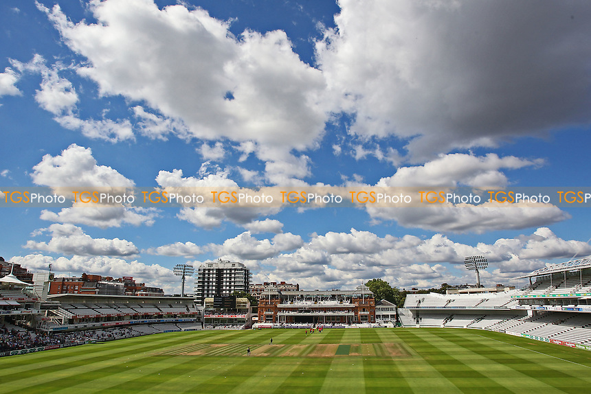 General view of the ground as the teams take to the field during Middlesex vs Essex Eagles, Royal London One-Day Cup Cricket at Lord's Cricket Ground on 31st July 2016