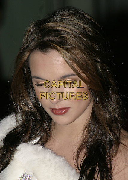 "JODI ALBERT.""The Phantom of the Opera"" World Premiere,.Odeon Leicester Square, London, December 6th 2004..portrait headshot funny eyes closed.Ref: AH.www.capitalpictures.com.sales@capitalpictures.com.©Capital Pictures."