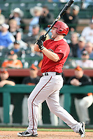 Matt Davidson #39 of the Arizona Diamondbacks bats against the San Francisco Giants in the first spring training game of the season at Scottsdale Stadium on February 25, 2011  in Scottsdale, Arizona. .Photo by:  Bill Mitchell/Four Seam Images.