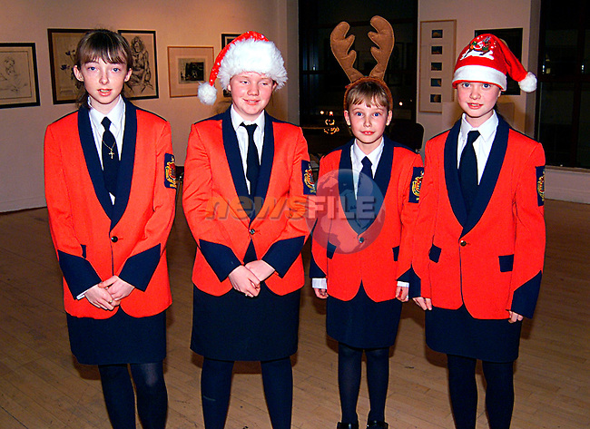 Nicola McEvoy, Genevier McGuirk, Kaylegh Brannigan, and Clare Kelly at the Lourdes Brass Band Christmas Concent in the Arts Centre..Pic Tony Campbell/Newsfile