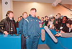 World Cup 1998, France 98<br /> USA coach Steve Sampson loiters in the mixed zone. (Exact date tbc). Photo by Tony Davis