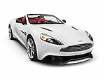 White 2014 Aston Martin Vanquish Volante grand tourer luxury car isolated on white background with clipping path