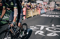 Andrey Amador (CRI/Movistar) crossing the finish line with some proof of an earlier crash<br /> <br /> 104th Tour de France 2017<br /> Stage 15 - Laissac-Sévérac l'Église › Le Puy-en-Velay (189km)