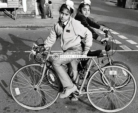 Sikh boys on bikes UK 1985