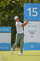 Thorbjorn Olesen (DEN) watches his tee shot on 15 during the round 1 of the AT&amp;T Byron Nelson, Trinity Forest Golf Club, Dallas, Texas, USA. 5/9/2019.<br /> Picture: Golffile | Ken Murray<br /> <br /> <br /> All photo usage must carry mandatory copyright credit (&copy; Golffile | Ken Murray)